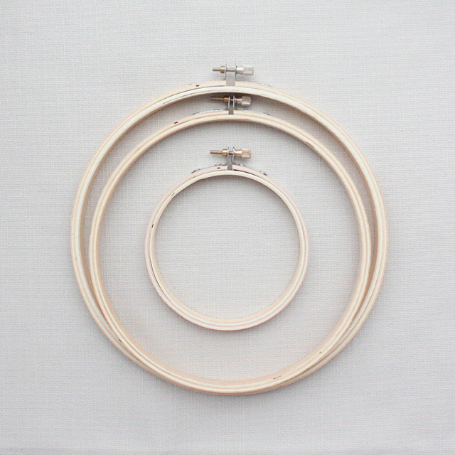 Wooden Embroidery Hoop  Round  Crafted Spaces