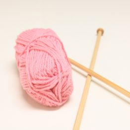 Cotton Yarn and Knitting Needles
