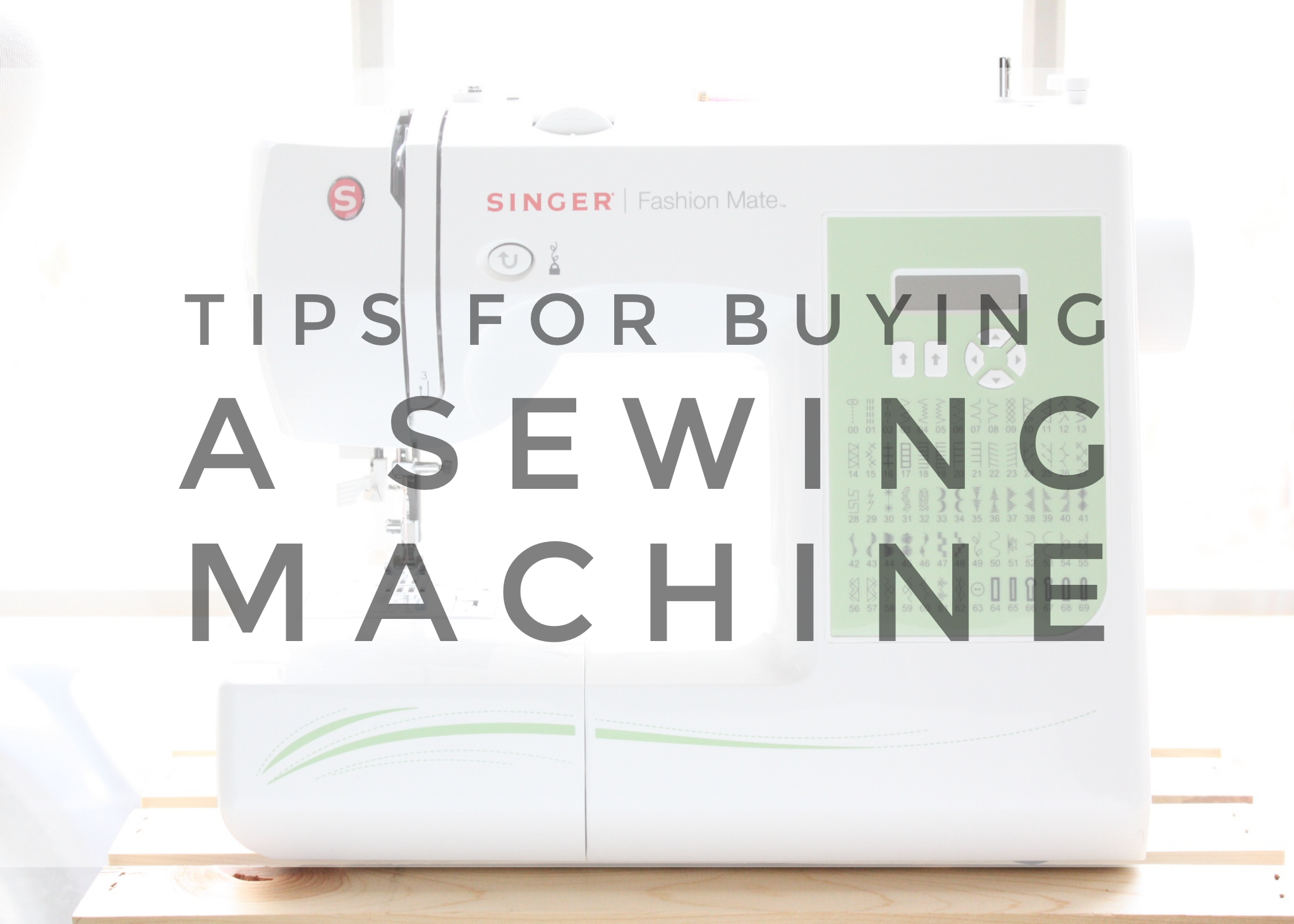 Tips for Buying a Sewing Machine