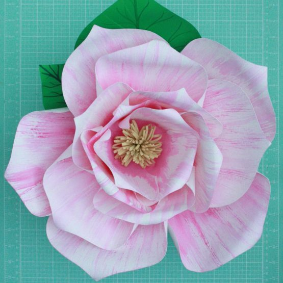 Pink and White Giant Paper Flowers