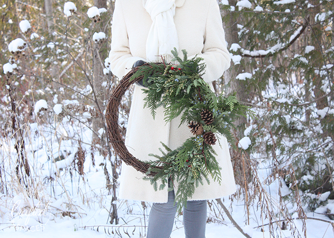 Crafted Spaces DIY Christmas Wreath