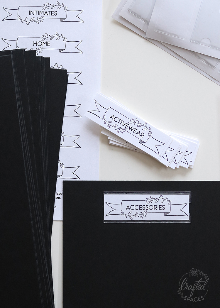 Crafted Spaces Sewing Pattern Dividers