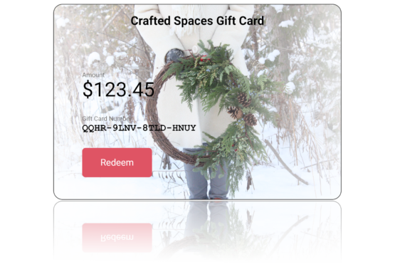 Crafted Spaces Winter EGift Card