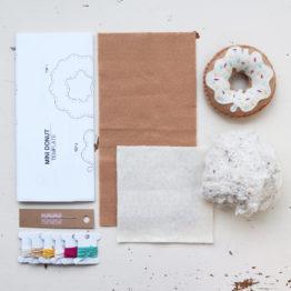 Crafted Spaces Ivory Felt Mini Donut Kit