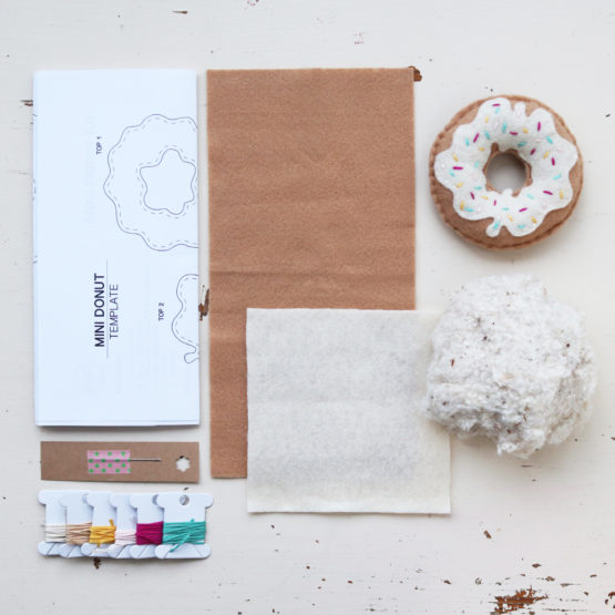 Crafted Spaces Ivory Felt Mini Donut Kit