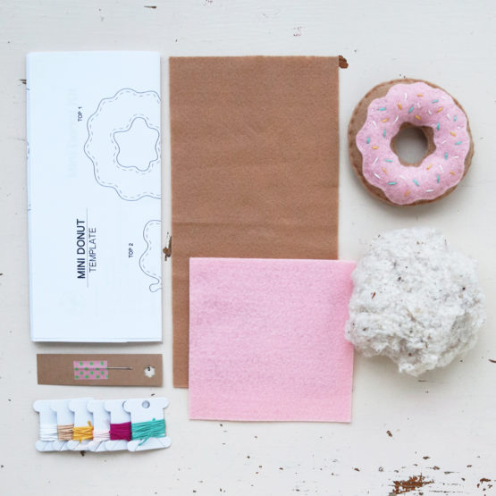 Crafted Spaces Pink Felt Mini Donut Kit